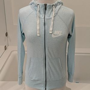 Nike light blue zip up sweatshirt size small